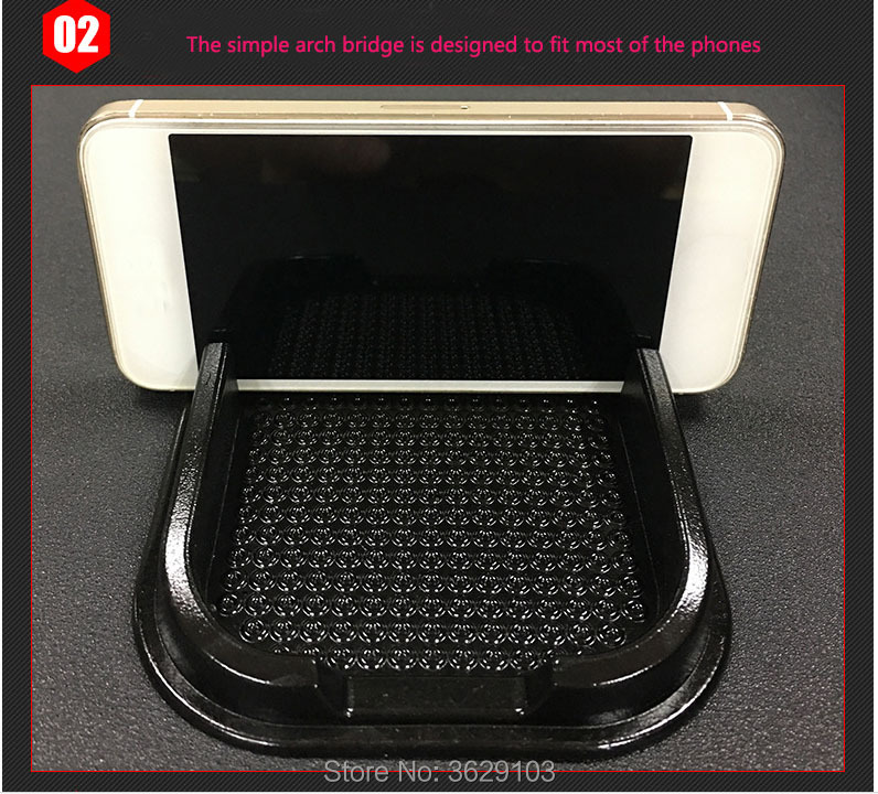 Multifunctional mobile phone anti-skid pad accessories sticker car-styling for Land Rover discovery 2 3 4 freelander 2 defender