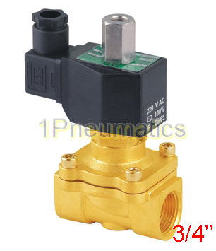 цена на Free Shipping 3/4' Normally Open Brass Electric Solenoid Valve 2W200-20-NO DC12V,DC24V,AC110V or AC220V
