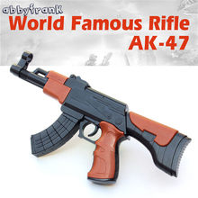 AK-47 Assembly Toy Rifle Gun ABS Plastic DIY Building Blocks 3D Miniature Model Gift For Boy Kids Outdoor Funny Toy Gun(China)