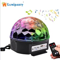 LumiParty Bluetooth Music Playing 6 Colors Changing Rotary Crystal Magic Ball LED Lamp Romantic Fairy Decorative