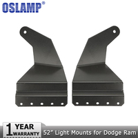 Oslamp A Pair Of 52 Straight Led Light Bar Mounts Roof Windshield Mounting Brackets For Dodge