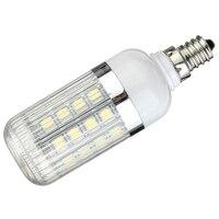 E12 5W Dimmable 36 SMD 5050 LED Corn Light Bulb Lamp Color Temperature Pure White 6000