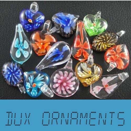 Wholesale Murano Glass Pendants Mix Lampwork Glass Pendant Necklace for women By Dux Ornaments