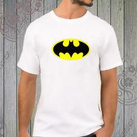 Cổ điển Batman biểu tượng màu vàng Trắng T-Shirt tee áo sơ mi XS-2XL
