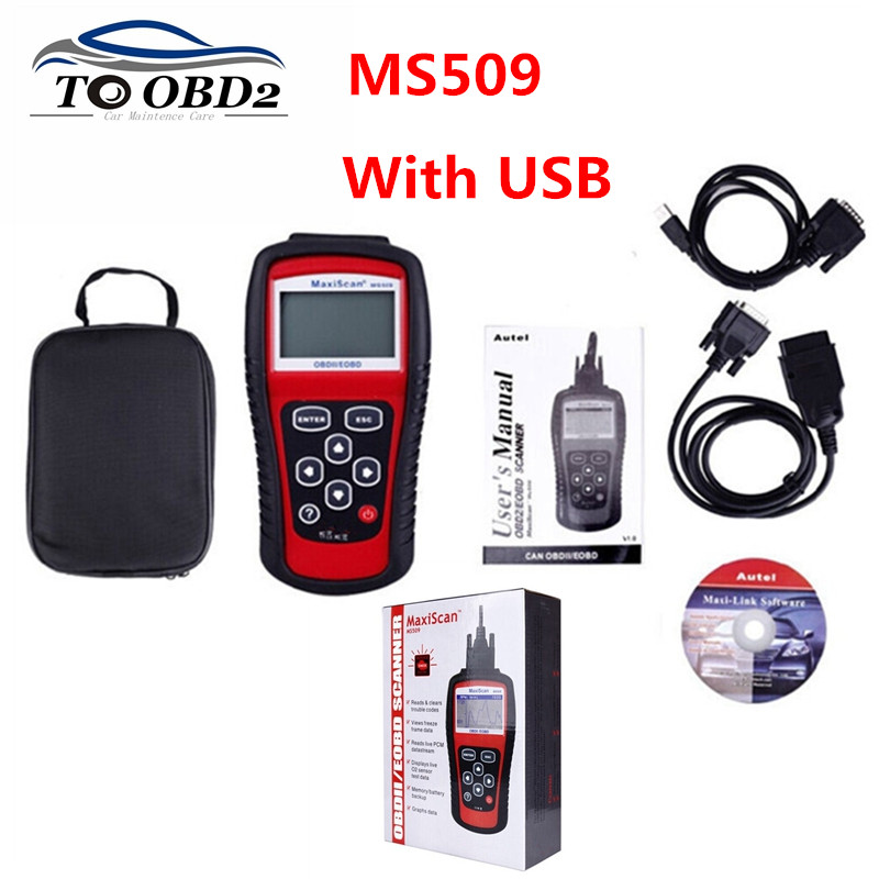 10PCS/lot ms509 scanner Car Code Reader Autel MS509 OBDII OBD Maxiscan MS 509 Auto motive Diagnostic Tool-in Car Diagnostic Cables & Connectors from Automobiles & Motorcycles    1