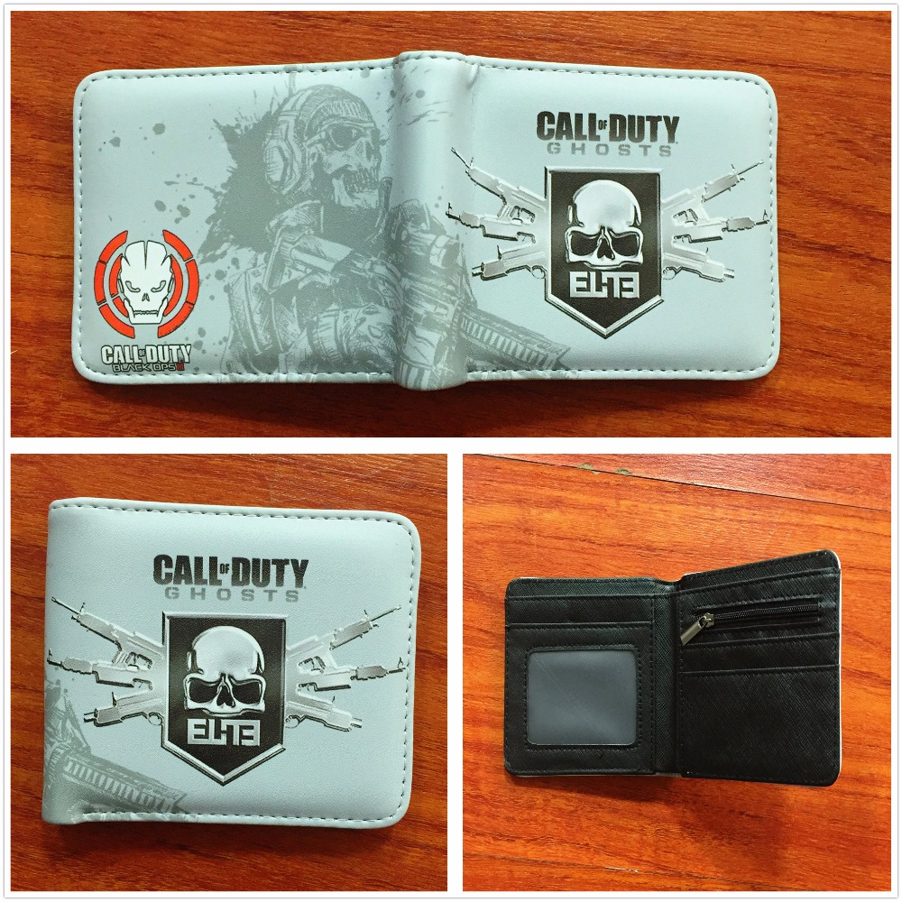 New Arrivel Call of Duty Ghosts Wallet Credit Card Holder Purse Short PU Leather Wallets ...