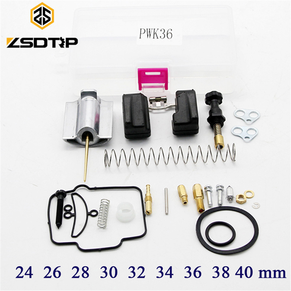 Free shipping ZSDTRP PWK 24 26 28 30 32 34 36 38 40 mm motorcycle Carburetor repair kit with spare jets sets 125cc cbt125 carburetor motorcycle pd26jb cb125t cb250 twin cylinder accessories free shipping