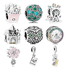 8ecc5e57d Punk Simple Style Wing Snake Glass Beads Key Dream Catcher Leaves Crystal  Beads Charms Fit Pandora