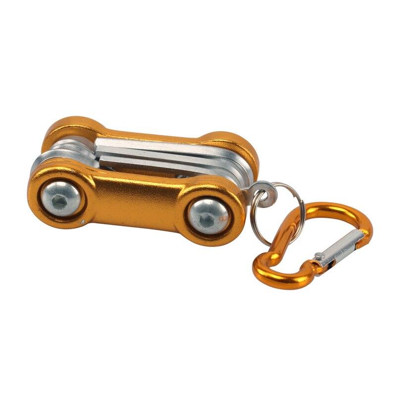 1pc Mini Repair Pocket Folding Tool Bicycle Moutain Road Bike Tool Set Cycling Multi Repair Tools Kit Wrench With Hook HW013-1