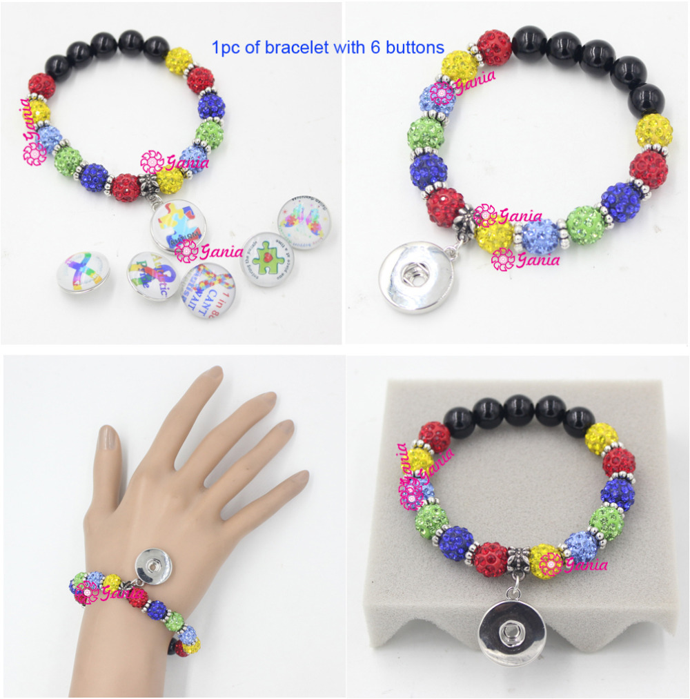 bracelet products alert the autism winner piece puzzle awareness wristband coloured image