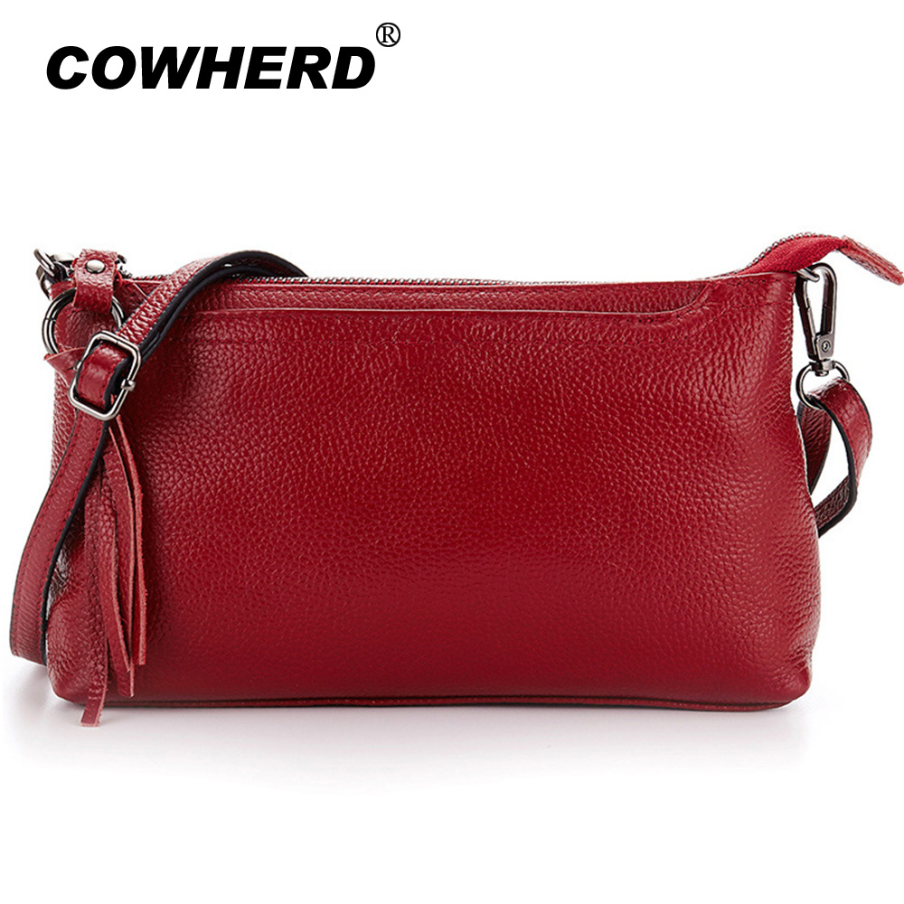 d3ffd683f28 Cowhide 2019 New Genuine Leather Women Messenger Bags Tassel Crossbody  Female Fashion Shoulder Bag Lady Clutch