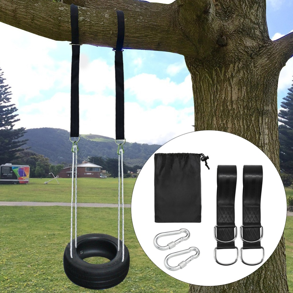 Set Of 2 Extra Long 5 Ft Heavy Duty Swing Straps #280731 800kg Load Capacity Impartial Nylon Tree Swing Hanging Kit Hammock Straps