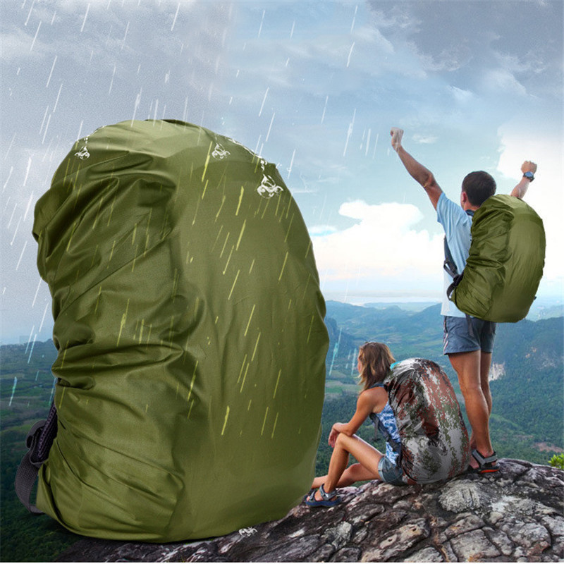 1pcs Nylon Army Green Camouflage RainCover 35-80L Lightweight Waterproof Backpack Bag Rain Cover For Travel Bag waterproof bag pouch w compass armband neck strap for iphone 5 4 4s camouflage green page 2