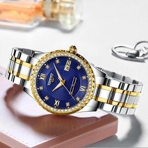 Image 2 - NIBOSI montre à Quartz pour hommes, montre damour, en acier, étanche, Couple, robe horloge