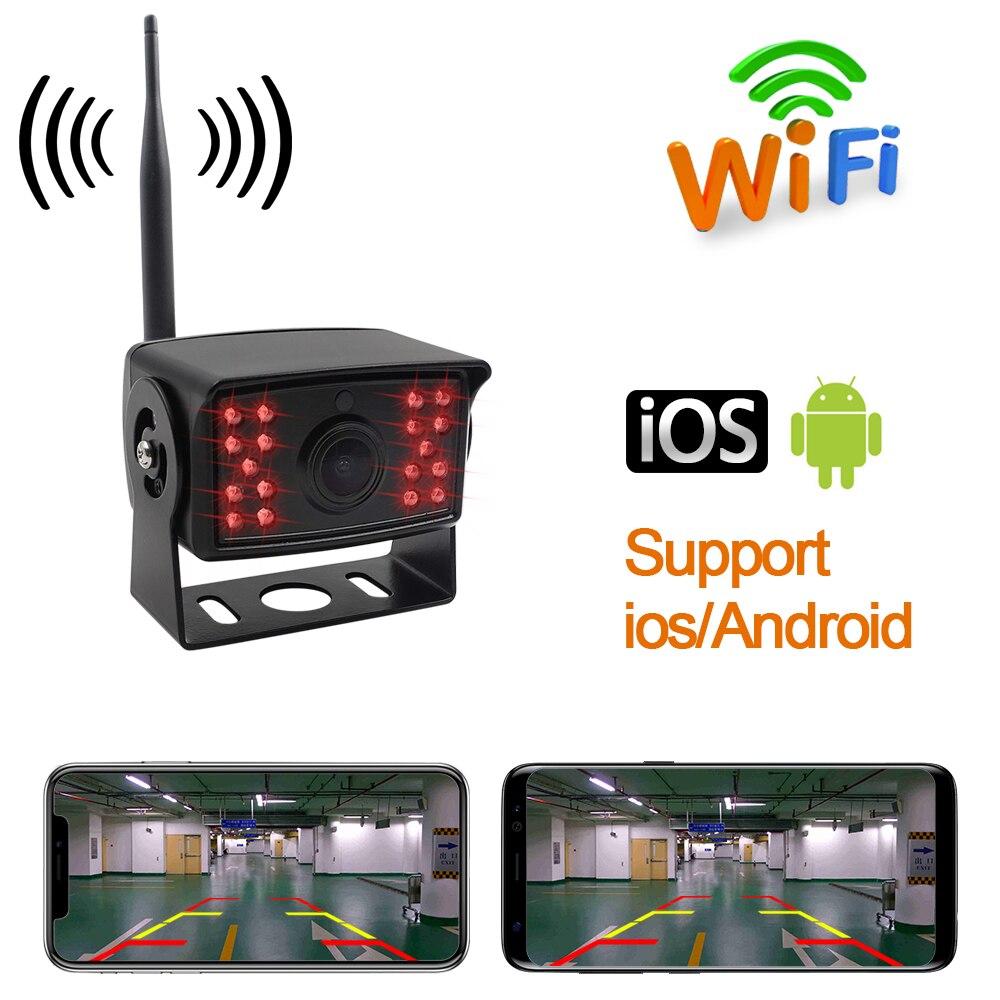 WIFI 車のリアビューカメラ自動反転駐車場 170 度 Led ナイトビジョン HD ビデオ防水車両バックアップ CCD バスカメラ  グループ上の 自動車 &バイク からの 車両カメラ の中 1