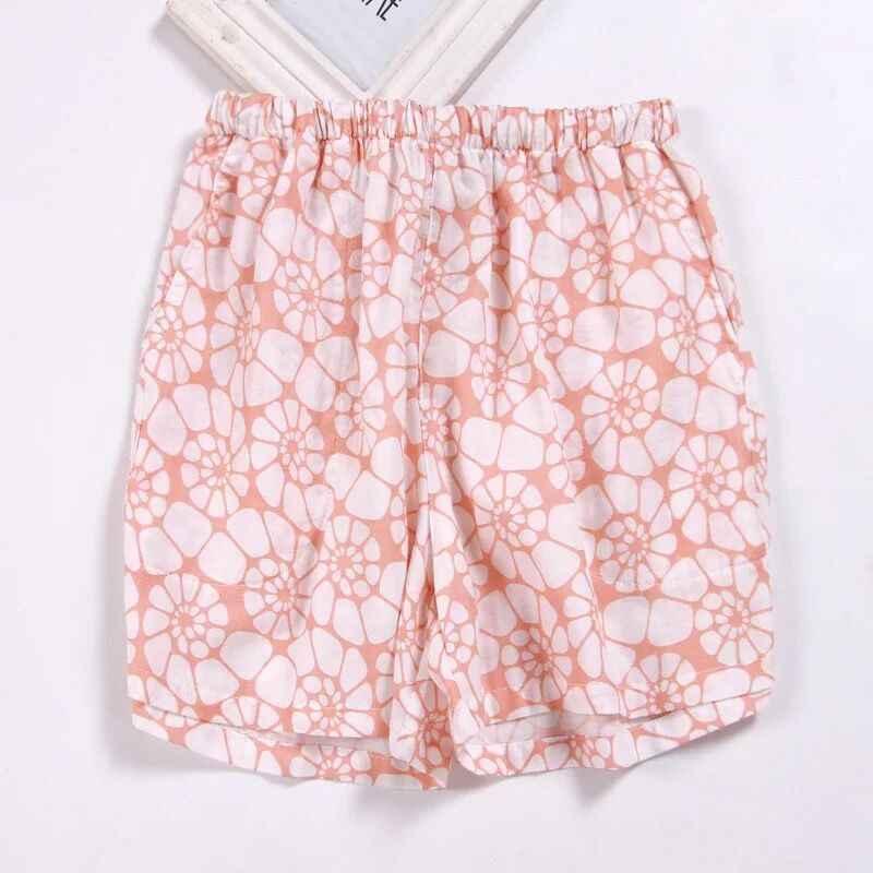Słodkie lato snu spodnie i spódnice bawełniane spodenki piżamy kobiety luźne w pasie spodnie od piżamy Plus rozmiar M-XL Lounge plaża spodnie