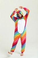 Cosplay Halloween Kigurumi Fish Scales Unicorns Onesies Zipper Color Adult Unisex Hooded Winter Flannel Animal Dropshipping