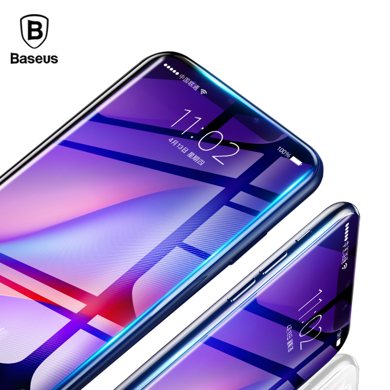Baseus 0.23mm Screen Protector For iPhone XS Max XR Tempered Glass Front Cover Film Protective Glass For iPhone 6.5 6.1 5.8 inch