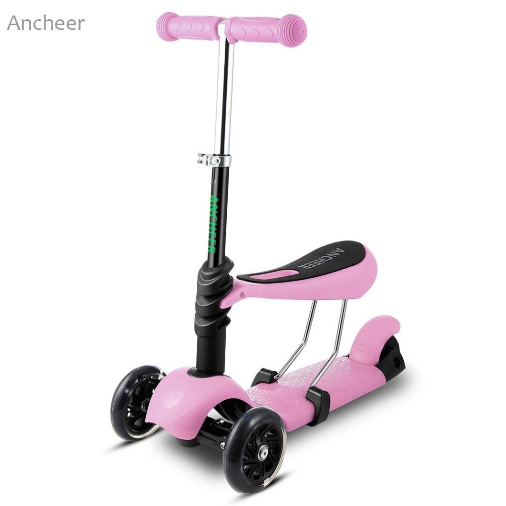 ANCHEER Brand New Kids Boys Girls Kick Scooter 3 Wheels Kickboard Fun Exercise Scooters Children City Roller Skateboard  scooters for 7 year olds
