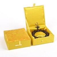 Coton Rempli Damassé Bracelet Boîte pour Homme Grande Boîte à Bijoux de Haute Qualité Boîtier De Montre De Stockage Chinois Dragon Boîtes D'emballage