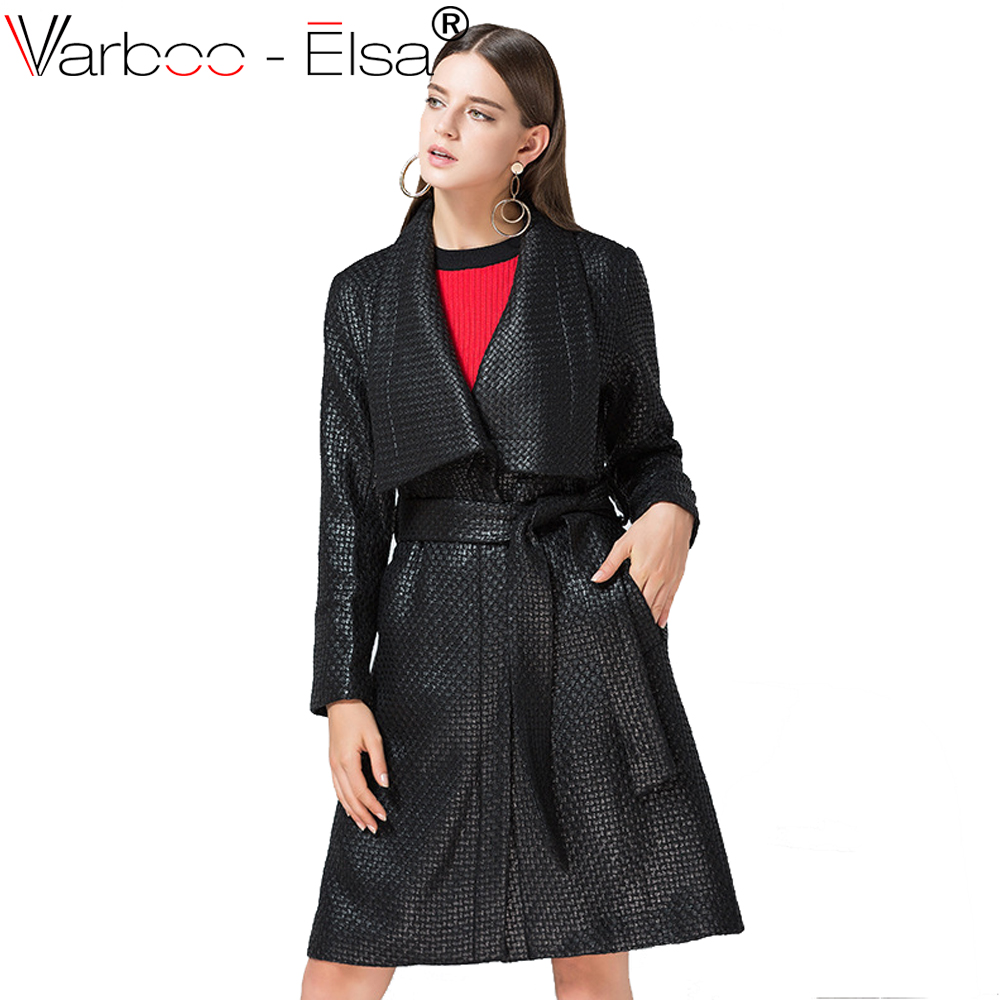 Varboo_Elsa high end shiny color tweed fabric Winter Women Wool Blends Coat belt Plaid Thick lapel straight Wool coat Female
