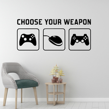 Amusing Choose Your Veapon Wall Stickers Modern Interior Art Decoration for Living Room Office Decal