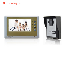 (1 set) Metal housing Home intercom system one to one Doorphone Video intercom 7inch nigth version Doorbell talkback