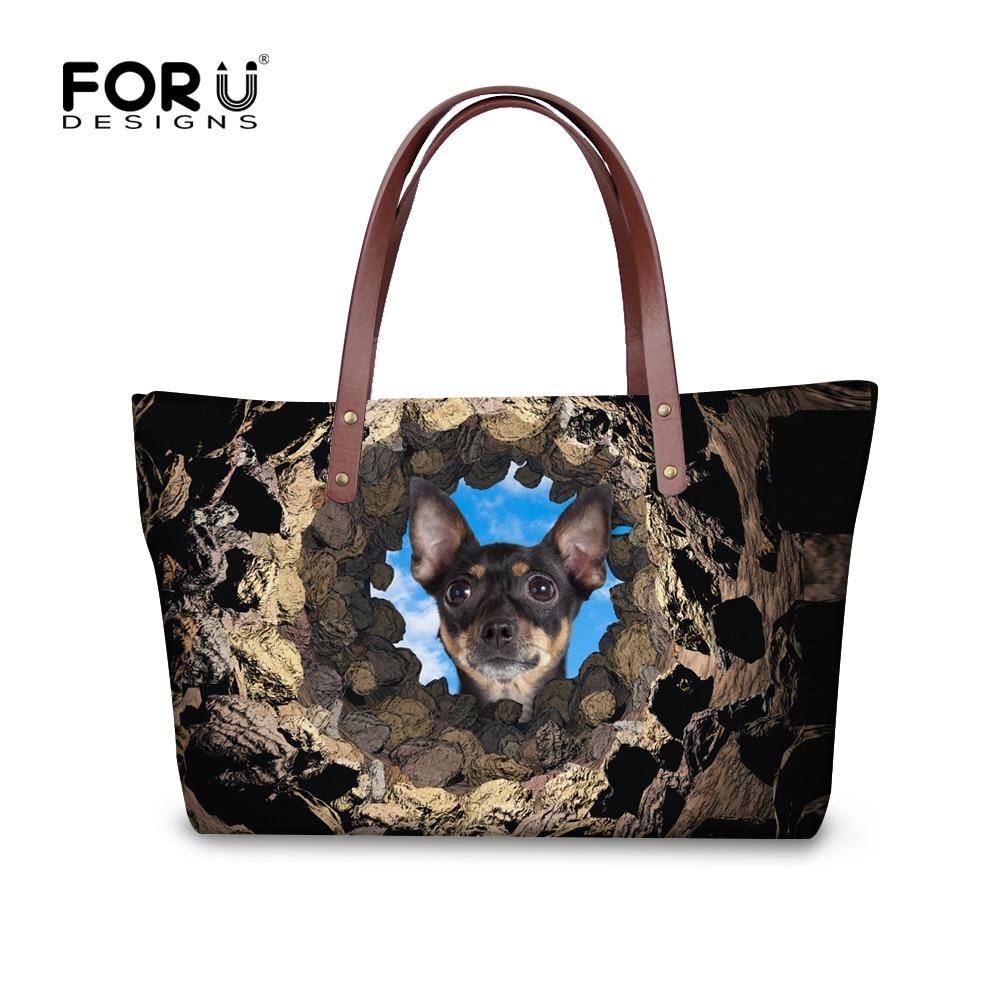 ФОТО 2017 Fashion Women's Handbags Cute Boston Terrier 3D Print Tote Bag for Ladies Vintage Large Crossbody Bags Bolsa Feminina Mujer