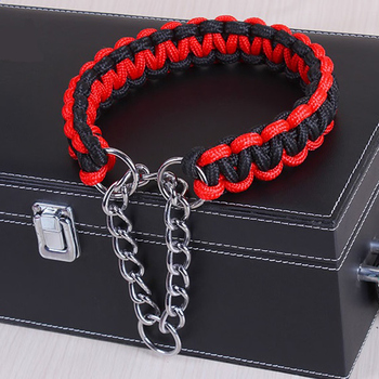 Adjustable Metal Dog Training Chain Collar