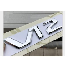 Chrome Black V12 V 12 Letters Sides Fender Badges Emblems Emblem Badge for Mercedes Benz MAYBACH S500L S600L S63 S65 S65L AMG