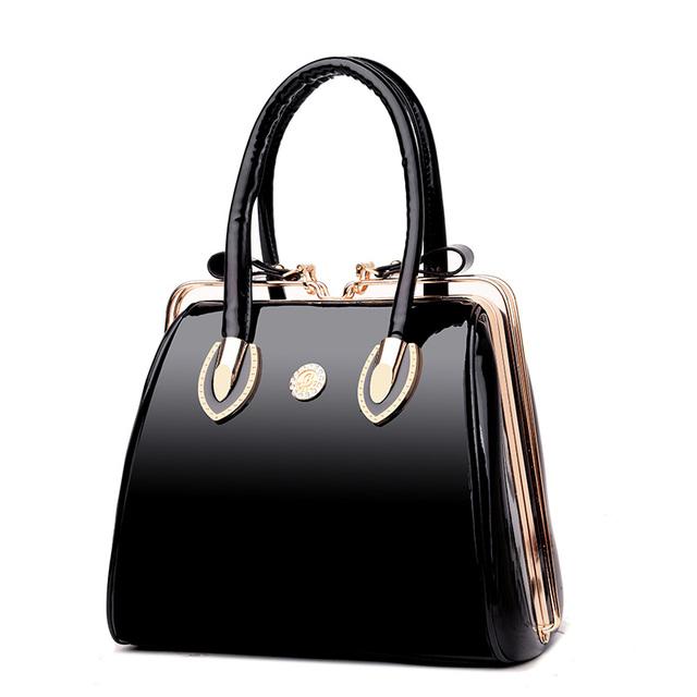 Patent Leather Luxury Tote Bag Fashion Top-Handle Bags Famous Brand Designer Handbags Women Evening Party Handbag Bolsa Feminina
