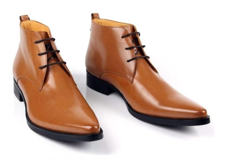 Braun Stiefel Hochzeit Hohe Neue 1 Up Gneuine Einfache Leder Qualität Knöchel Kleid Elegante Männer Spitze Schwarz 2 Spitz HqO66vXwS