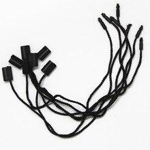 300pcs/lot garment hang tag string 7'' paper tag rope black hang tag string cord