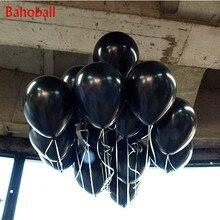 Ballons en Latex perle noire 10 pouces, 1.5g, 10 pièces/lot, balles à Air pour anniversaire, fournitures décoratives pour fête de mariage, ballons ballons jouets pour enfants