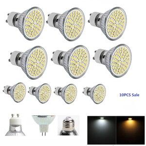3w led warm white led lamp Spotlight Bulb lamp E27 Warm White  GU10 MR16 60leds 2835 AC220V 12v led bulb e27 10PCS JTFL001