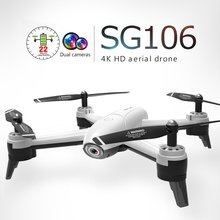 SG106 WiFi FPV Drone RC Drone 4 K 720 P/1080 P HD cámara de flujo óptico único/cámara Dual de Video aérea RC Quadcopter Avión Helicóptero