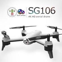 SG106 WiFi FPV RC Drone 4 K 720 P/1080 P HD Della Macchina Fotografica Flusso Ottico singola/Doppia Fotocamera video aerea RC Quadcopter Aircraft Elicottero