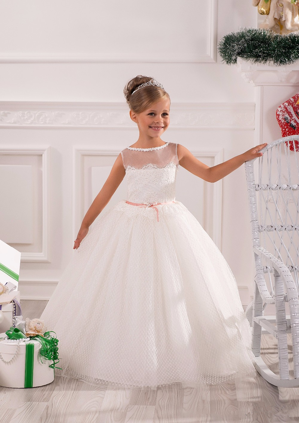 Flower Girl Dresses First Communion Dresses Girls Kids