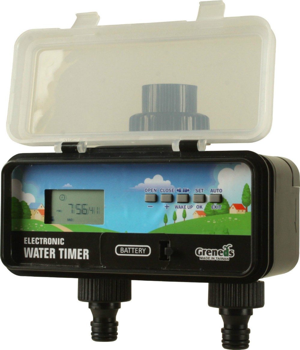 3~145 Psi Solar & RainStop  2 ZONE LCD Electronic Water Timer Home Garden Irrigation Controller