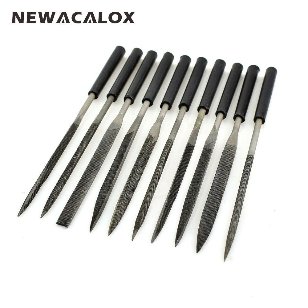 NEWACALOX 10pcs Diamond Needle File Jewelry Filling Tools Mini Rasp Wood Carving Metal Hand File Set Microtech Hobby Hand Needle  цены