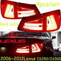 car-styling,IS250 IS300 Taillight,2006~2012,Free ship!4pcs,IS250 IS300 fog light;chrome,IS250 IS300 tail lamp,car-detector