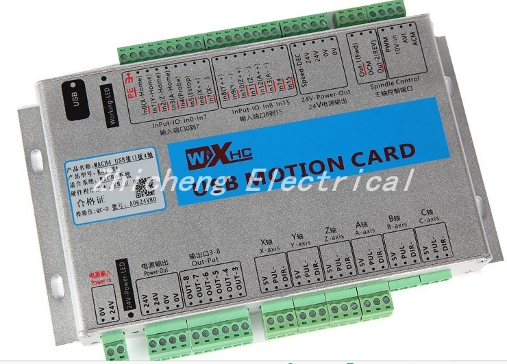 XHC 3 AXIS mach4 cnc motion control breakout board, 2000KHZ output, CE xhc mk4 mach3 breakout board 6 axis usb motion control card 2mhz support windows 7 10
