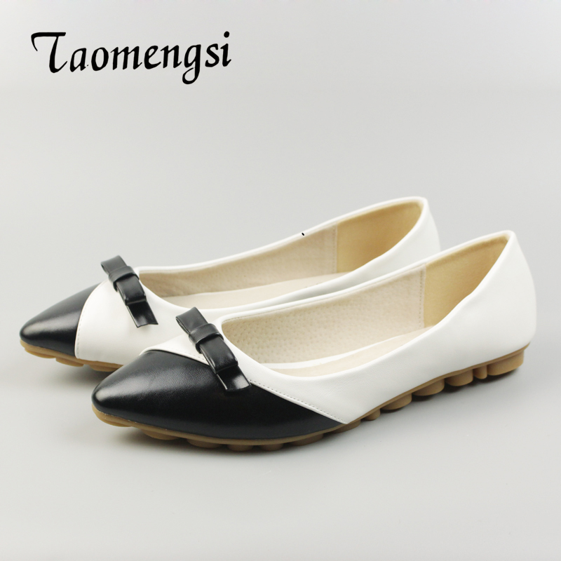 2016 Women Flats Shoes Crystal Pointed Toe Shoes For Women PU Leather Plus Size Casual Shoe 35-43 Flats Woman Flat With Woman baiclothing women casual pointed toe flat shoes lady cool spring pu leather flats female white office shoes sapatos femininos