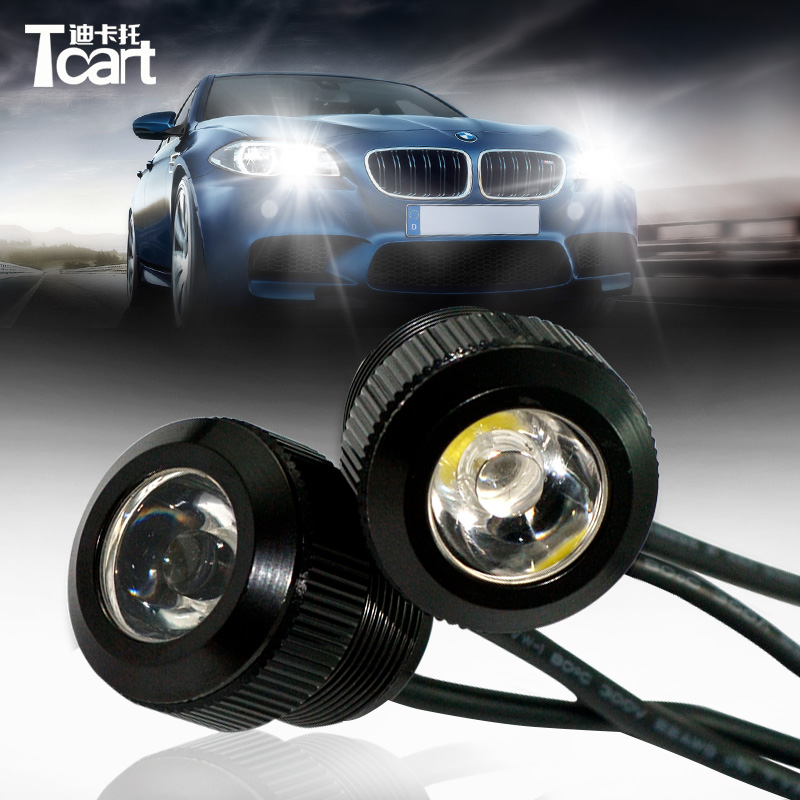 Accessories Atv,rv,boat & Other Vehicle 10pcs Waterproof 18mm 9w Cob White Led Eagle Eye Car Fog Drl Turn Signal Light Be Friendly In Use
