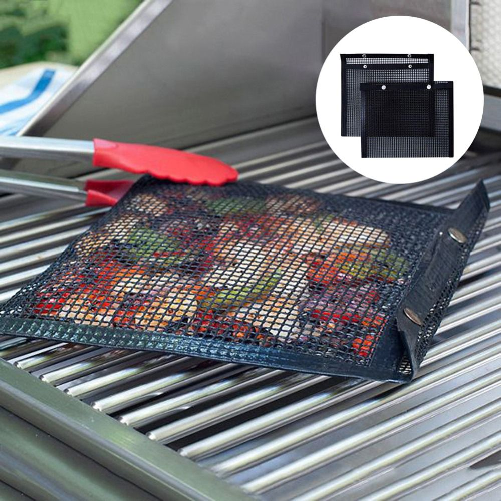New Non-Stick Mesh Grilling Bag Outdoor Picnic Tool Reusable and Easy to Clean Non-Stick BBQ Bake Bag Hot Sale