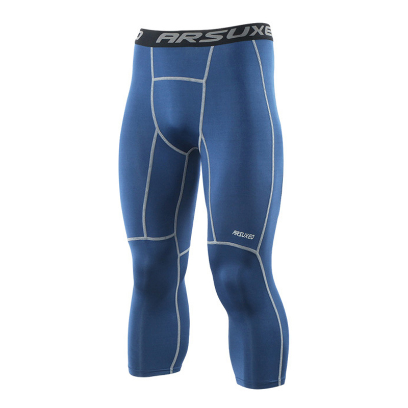 Quick-Drying Running Tights Men Jogging Sport Leggings Elastic GYM Fitness Compression Pants Exercise Trousers недорого
