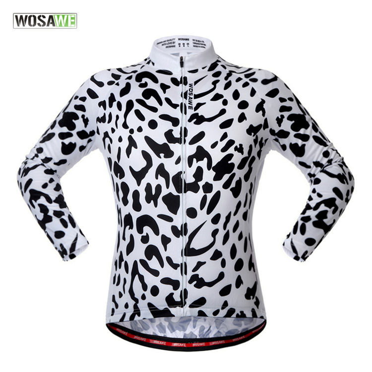 2017 autumn snow leopard long sleeved mountain bike riding clothes sleeves road cycling clothing BC249