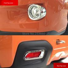 For Subaru XV Impreza Hatchback suv 2012 2013 2014 Car Styling Front and Rear Foglight Fog Lamp Cover trim 4pcs
