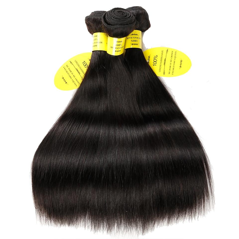 Queen nagu tooted Inimeste juuksekudumine sulgemisega Non Remy Weft 3 - Inimeste juuksed (must) - Foto 3