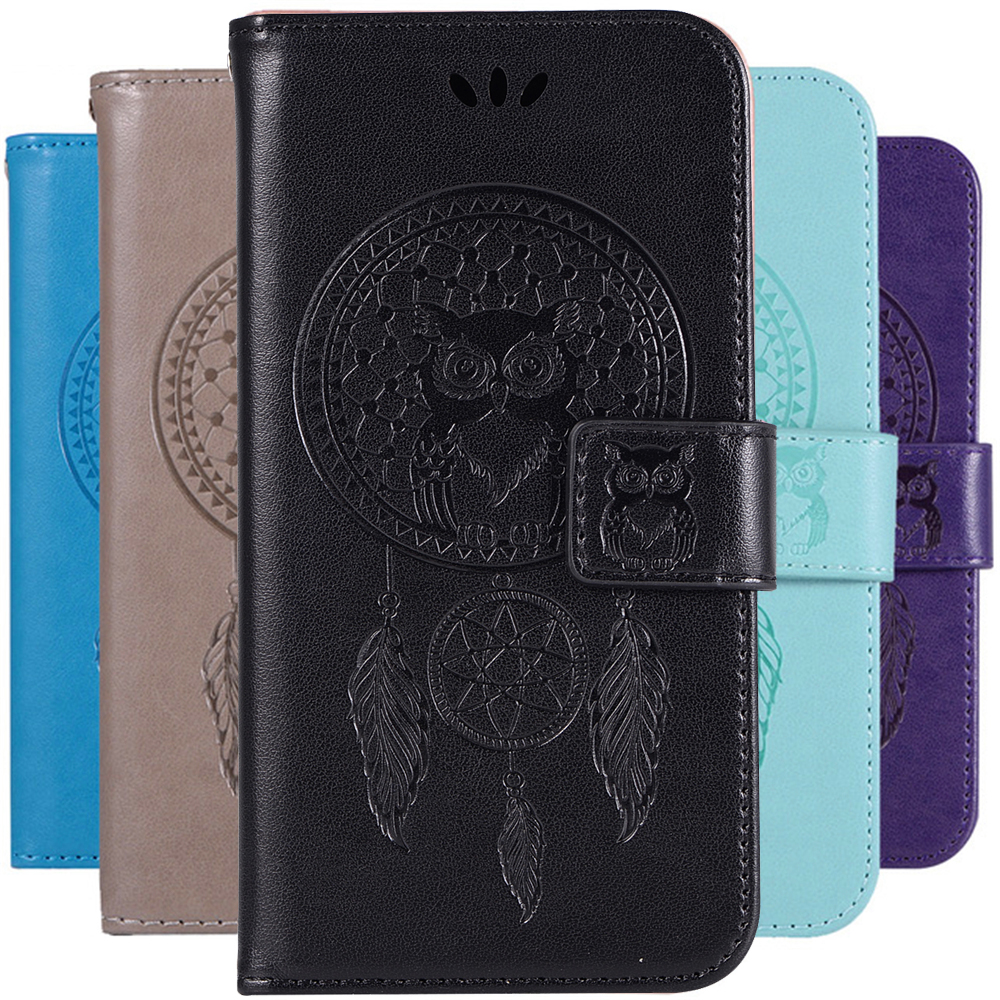 Dream Catcher Owl Pattern Book Case Leather For LG X Style / Aristo 2 / K8 2018 US version Flip Wallet Cover Shell